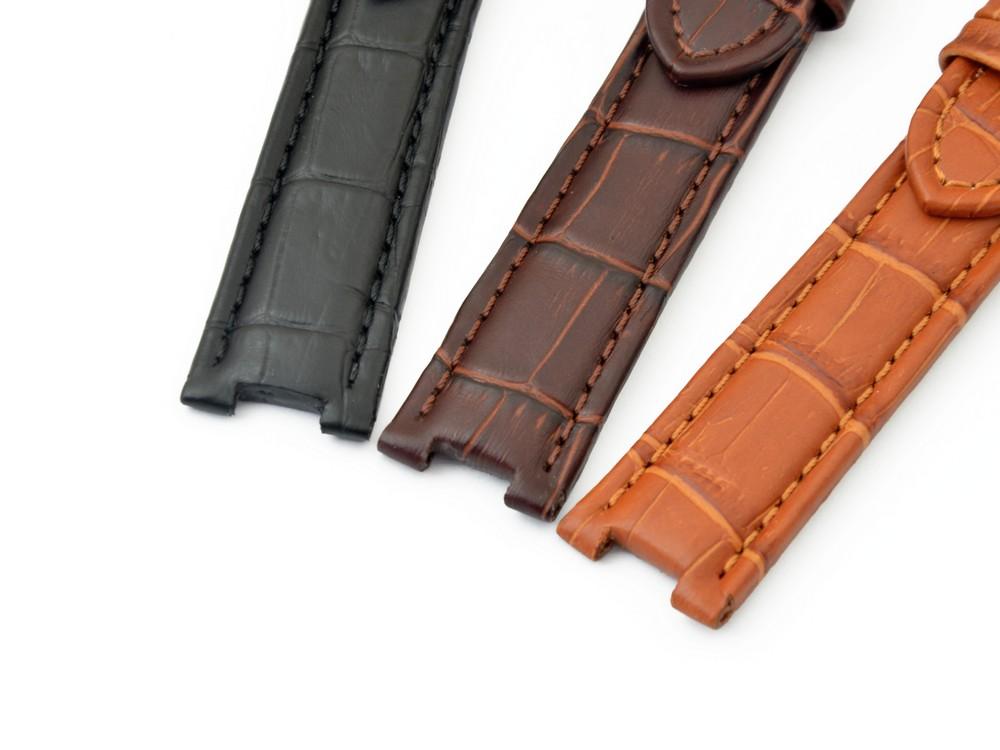 gelocht rotbraun  20mm 22mm 24mm Uhrenarmband BIO Dornschließe Kalbleder